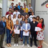 Cámara de Comercio y Cabildo clausuran el curso marítimo profesional para jóvenes, en Academia Náutica Lanzarote.